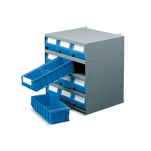 Storage bin shelves and container shelves