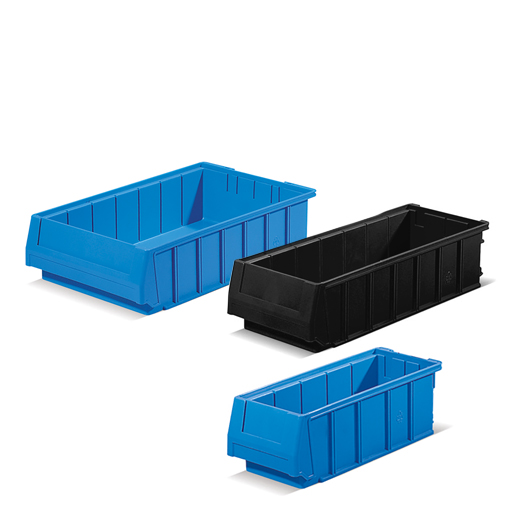 Bins for shelving systems